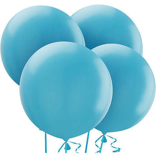 Caribbean Blue Balloons 4ct, 24in Image #1