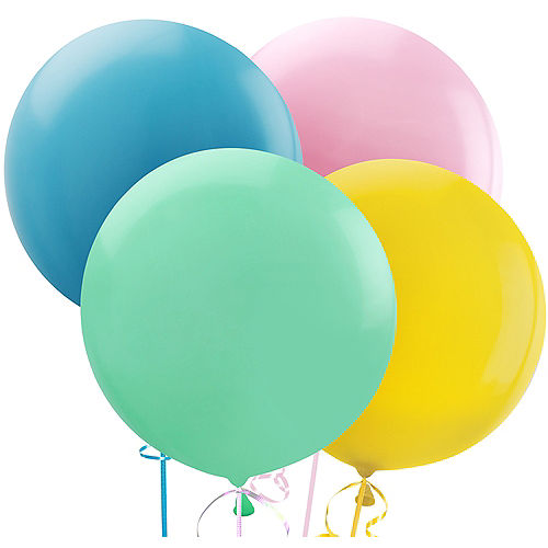 Assorted Pastel Balloons 4ct, 24in Image #1
