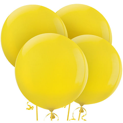Yellow Balloons 4ct, 24in Image #1