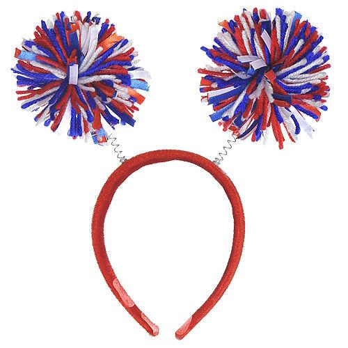 Patriotic Red, White & Blue Pom-Pom Head Bopper Image #1