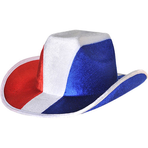 Red, White & Blue Cowboy Hat Image #1