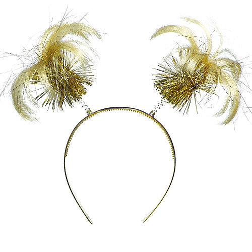 Gold Ponytail Head Bopper Image #1