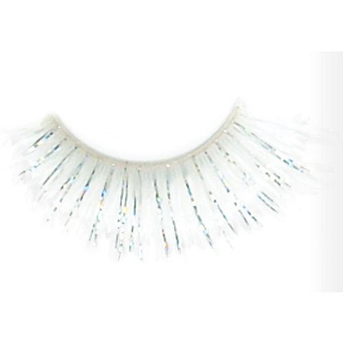 Self-Adhesive White Tinsel False Eyelashes Image #2
