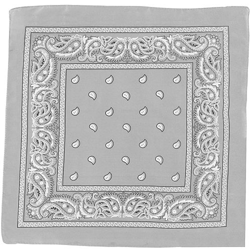 Nav Item for Silver Paisley Bandana, 20in x 20in Image #2