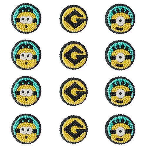 Wilton Minions Icing Decorations 12ct - Despicable Me 3 Image #1