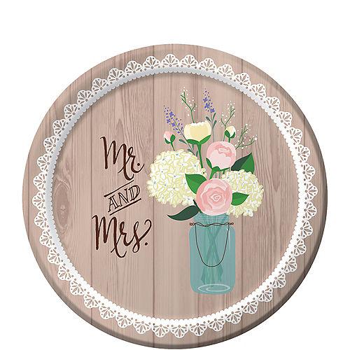 Rustic Wedding Dessert Plates 8ct Image #1