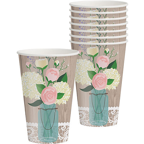 Rustic Wedding Cups 8ct Image #1