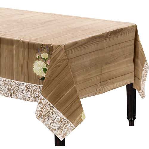 Rustic Wedding Plastic Table Cover Image #1