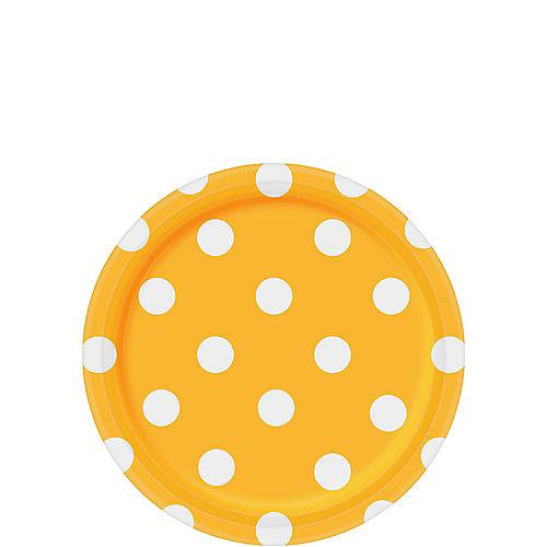 Sunshine Yellow Polka Dot Dessert Plates 8ct Image #1