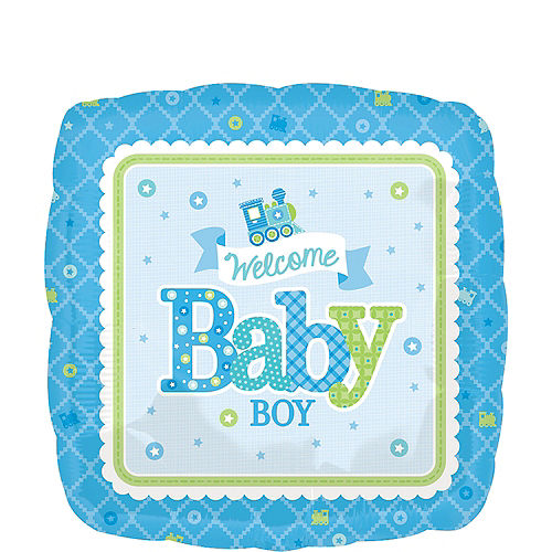 Boy Welcome Baby Balloon - Welcome Little One, 17in Image #1