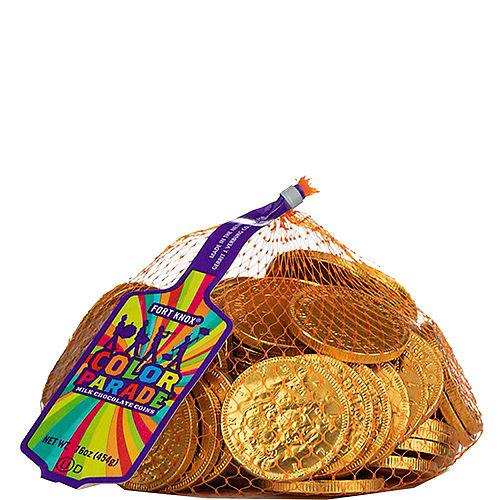 Gold Chocolate Coins 72pc Image #1
