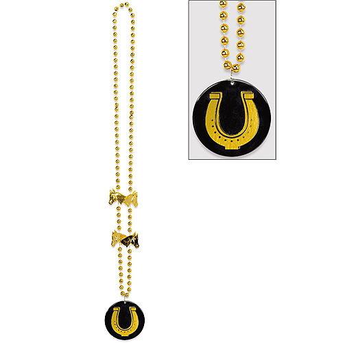 Horseshoe Pendant Necklace - Horse Racing Image #1