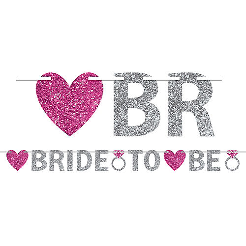 Glitter Bride to Be Letter Banner Image #1