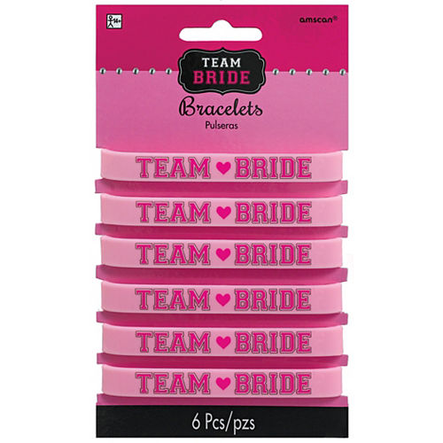 Team Bride Wristbands 6ct Image #2