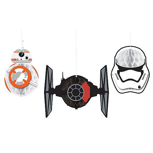Star Wars 7 The Force Awakens Honeycomb Balls 3ct Image #1