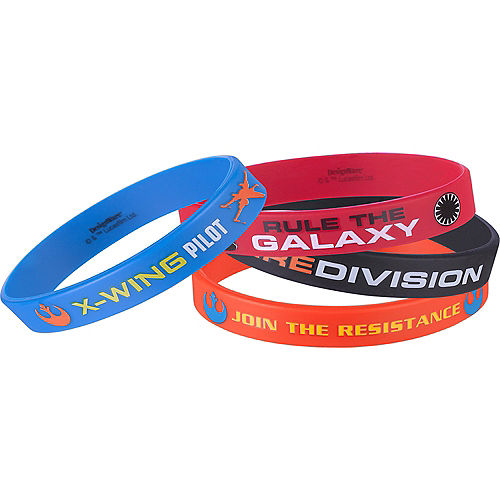 Star Wars 7 The Force Awakens Wristbands 4ct Image #1