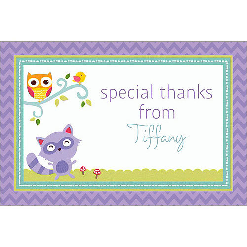 Custom Woodland Welcome Thank You Notes Image #1