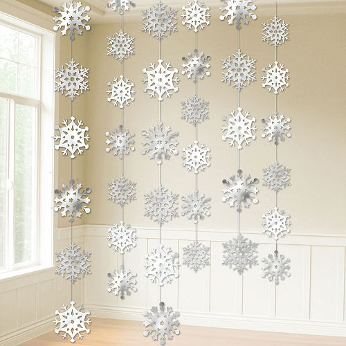 Snowflake String Decorations 6ct Image #2