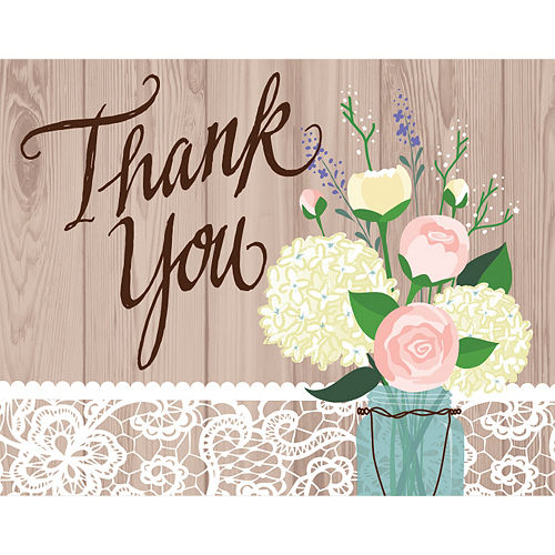 Rustic Wedding Thank You Notes 8ct Image #1