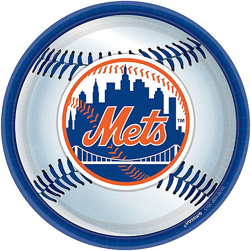 New York Mets Lunch Plates 18ct Image #1