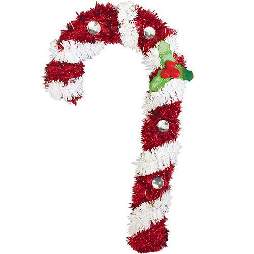 Hanging Tinsel Candy Cane Image #1