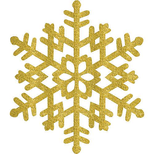 Glitter Gold Snowflake Image #1