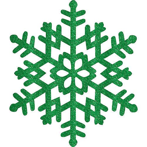 Glitter Green Snowflake Image #1