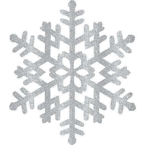 Glitter Silver Snowflake Image #1