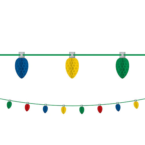 Christmas Lights Honeycomb Garland Image #1