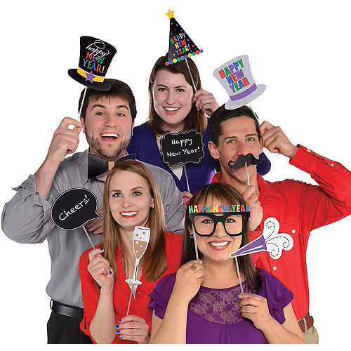 Happy New Year Photo Booth Props 13ct Image #1