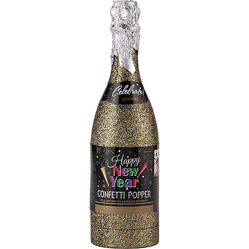Colorful Happy New Year Bottle Confetti Popper Image #2