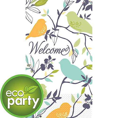 Eco-Friendly Welcome Birds Guest Towels 16ct Image #1