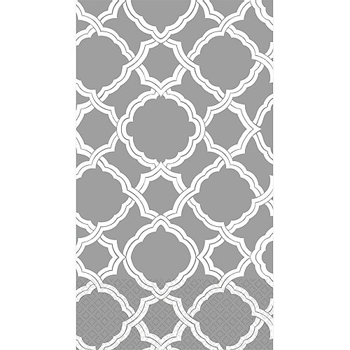 Gray & White Moroccan Guest Towels 16ct Image #1