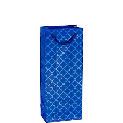 Metallic Royal Blue Moroccan Bottle Bag Image #1