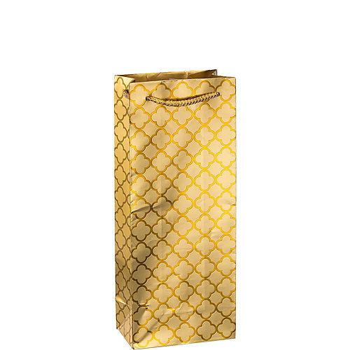 Metallic Gold Moroccan Bottle Bag Image #1