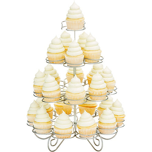 Silver Wire Mini Cupcake Stand Image #1