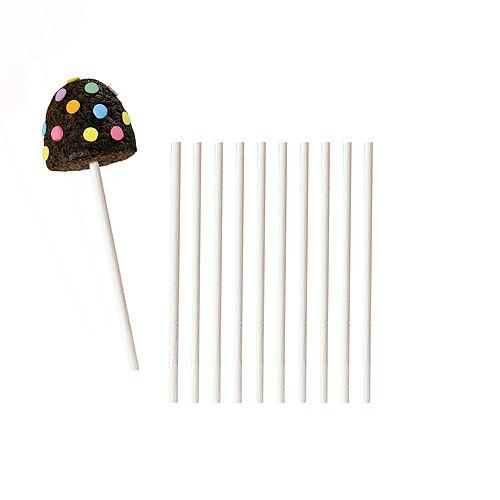 White Lollipop Sticks 50ct Image #1