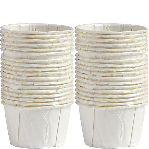Mini White Pleated Nut Cups 36ct Image #1