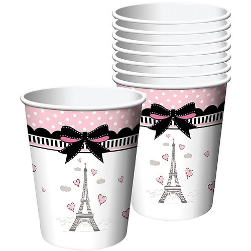 Pink Paris Basic Party Kit for 8 Guests Image #6