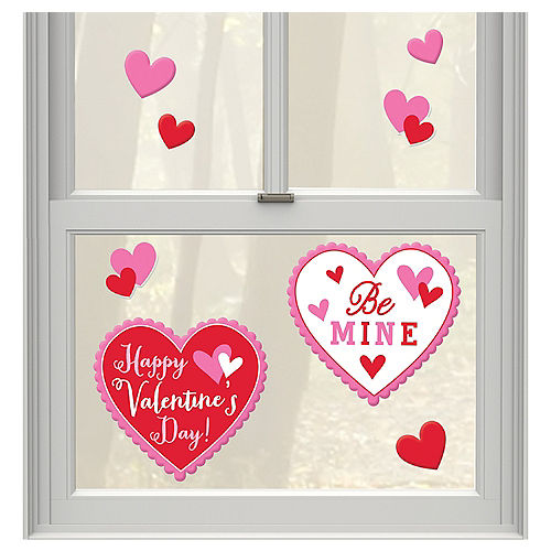 Happy Valentine's Day Heart Gel Cling Decals 8ct Image #1