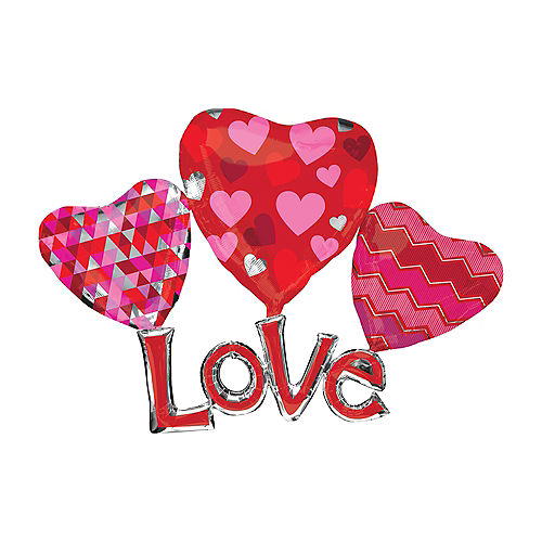 Hearts & Love Balloon - Giant Image #1