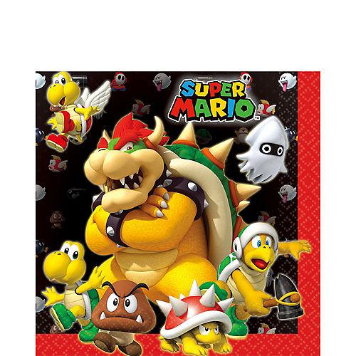 Super Mario Lunch Napkins 16ct Image #1