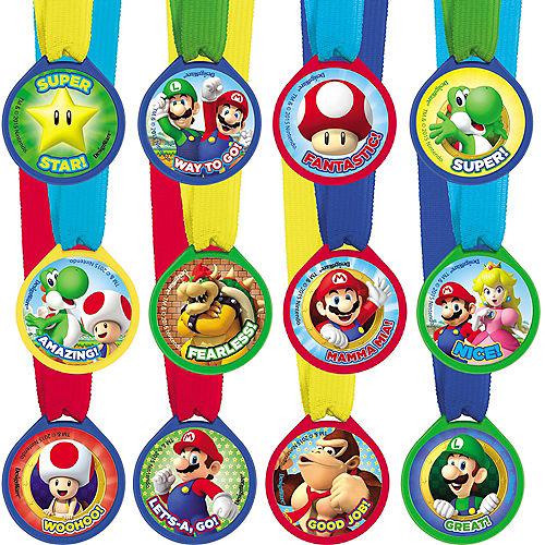 Super Mario Award Medals 12ct Image #1