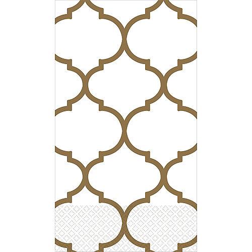 Gold Lattice Premium Guest Towels 16ct Image #1