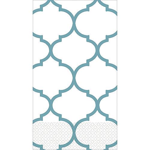 Teal Lattice Premium Guest Towels 16ct Image #1