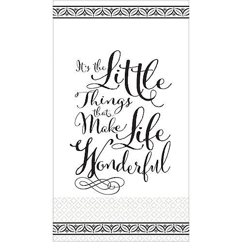 Black Wonderful Life Premium Guest Towels 16ct Image #1
