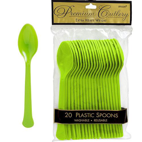 Kiwi Green Premium Plastic Spoons 20ct Image #1