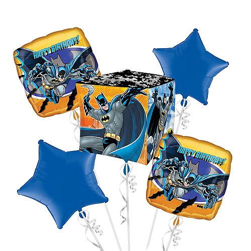 Batman Birthday Balloon Bouquet 5pc - Cubez Image #1