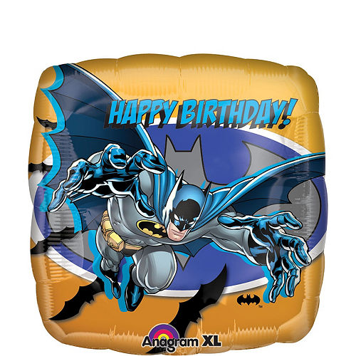 Batman Birthday Balloon Bouquet 5pc - Cubez Image #2
