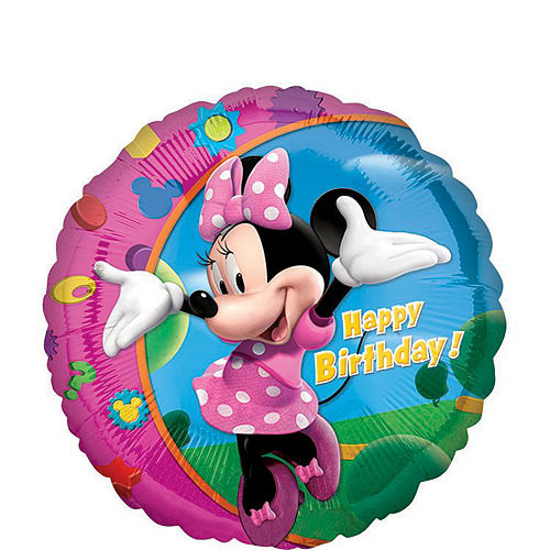 Minnie Mouse 5th Birthday Balloon Bouquet 5pc Image #2